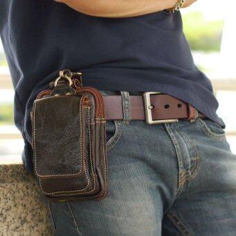 SAPA กระเป๋าหนังแท้ ร้อยเข็มขัด ขนาด 7 นิ้ว เหมาะสำหรับใส่โทรศัพท์ พาสปอร์ต แบตเตอร์รี่สำรอง รุ่น SPD02