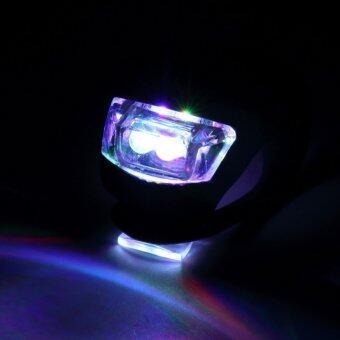 ซิลิโคนBikeไฟหน้า LED Flash Light รถจักรยานติดตั้งง่าย