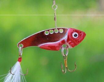 fight for fish(ing) เหยื่อปลอม กระดี่ หัวสีแดง ขนาด3.5 g.