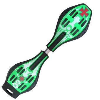 Snakeboard สเน็คบอร์ด Freestyle สีเขียว