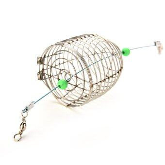 Harga Fishing Trap Cage Small Bait Stainless Steel Wire - intl