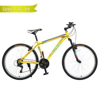K-BIKE จักรยานเสือภูเขา 26 นิ้ว 21 speed SHIMANO รุ่น THOR 26K68 (สีเหลือง)