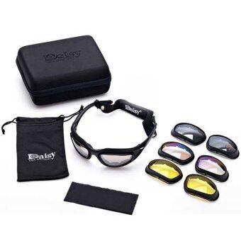 Daisy แว่นตาขี่มอเตอร์ไซค์ แว่นกันแดด Daisy รุ่น C5 เปลี่ยนเลนส์ได้ UV 400 protection มีเลนส์ทั้งหมด 4 สี