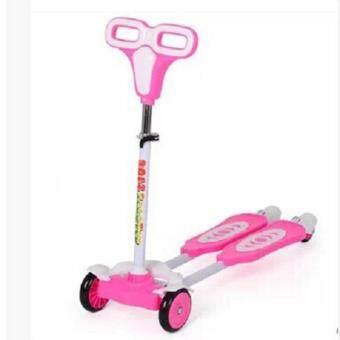 จักรยานสกู๊ตเตอร์ระบบดุ๊กดิ๊ก แบบ 4 ล้อ GS01 pink