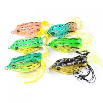 Harga 1 Piece 60mm Frog Fishing Bait Soft Bass Topwater Lure (Color Delivery in Random)- (Intl)