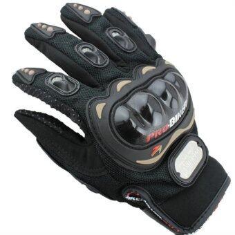 iremax ถุงมือบิ๊กไบ้ค์ Big Bike ถุงมือมอเตอร์ไซค์ ถุงมือขับรถ การ์ดคาร์บอน -Black (size:L)