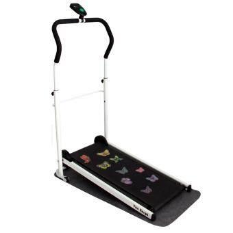Van Burgh ลู่วิ่ง พับเก็บได้ ออกกำลังกาย Mini Foldable Treadmill รุ่น SP-0003 พร้อมสติกเกอร์ลายผีเสื้อ(JM8205)