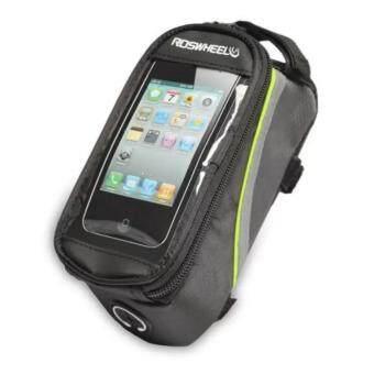 iremax Roswheel กระเป๋าใส่มือถือติดจักรยาน เส้นเขียว (สีดำ)