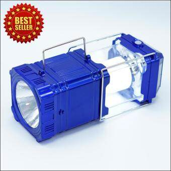 Smartmall ตะเกียงไฟฉาย โซล่าร์เซลล์ 2 in 1 สีน้ำเงิน