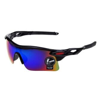 Gracefulvara กีฬากลางแจ้งของคนขี่รถจักรยานขี่จักรยานแว่นตาสีดำกรอบแว่นตากันแดด (สีเขียวปรอท)