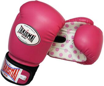 THAISMAI นวมชกมวย BG-124 Boxing Gloves PU Special (Pink Polkadot)
