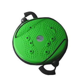 จานทวิส จานหมุนเอว แบบมีเชือก ( สีเขียว ) Twist Disc / Twist Plate / Twister