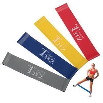 Hayashi ยางยืด ออกกำลังกาย บริหารร่างกาย TTCZ Exercise Band Loop (สีเหลือง, น้ำเงิน, แดง, เทา