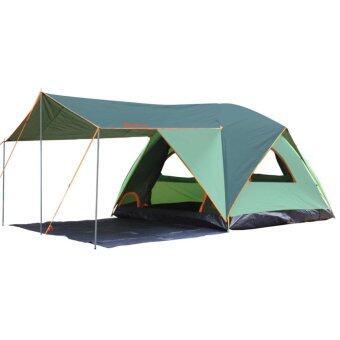 Field and camping เต็นท์ Terrace IV ขนาด 250x(250+180)x180 ซม.สีเขียวขี้ม้า-เขียวอ่อน