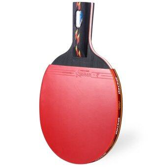 REGAIL D003 เทเบิลเทนนิสปิงปองไม้ตีแบตลูกหนึ่ง Penhold (สีแดง)