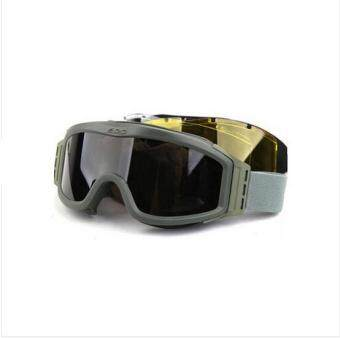 Harga High Quality Ski Goggles Outdoor Windproof Snowboard Skiing Eyewear Men Tactical Glasses Riot Control Goggles Green