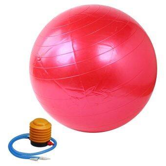Kinglion Sport 85CM ลูกบอลโยคะผิวเรียบสีแดง โยคะบอล ลูกบอลออกกําลังกาย ฟิตบอล ลูกบอลฟิตเนส ฟิตเนสบอล ยิมบอล อุปกรณ์ฟิตเนส ออกกําลังกายลดพุง Red Fitball Fitness Ball Yoga Ball Massage Ball