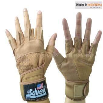 Schiek ถุงมือยกน้ำหนัก ถุงมือฟิตเนส Fitness Glove (สีเบจ XL)