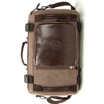 Man Rewards กระเป๋าผ้าแคนวาสเนื้อหนา 3 in 1 สำหรับสุภาพบุรุษ รุ่น MB-A40R (สีน้ำตาลเข้ม)