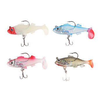 Harga Carp Shape Soft Fishing Lures Artificial Fish Bait With Sharp Tackle Hooks - intl