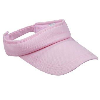 Harga Cute Cotton Blend Sports Outdoor Casual Visor Hats Caps Pink
