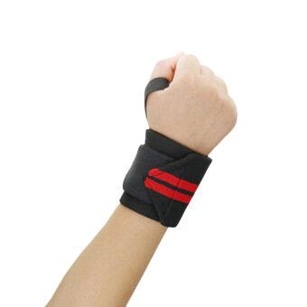 2559 คุณภาพดีที่สุด 1ชิ้นน้ำหนักสายรัดข้อมือกีฬายกมือโอบรัดนิ้วรองรับห้องออกกำลังกายออกกำลังกายฝึกมือผ้ารัดปลอดภัย (สีแดง)