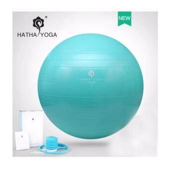 HATHA YOGA - บอลโยคะ สีเขียว ไซด์ 65 cm. คงทน ยืดหยุ่น ปลอดสารพิษ กันการระเบิด, Professional-grade, anti-burst ball, improve balance and flexibility, พิเศษแถมฟรี เครื่องปั้มลม และ อุปกรณ์ มูลค่า 250 บาท