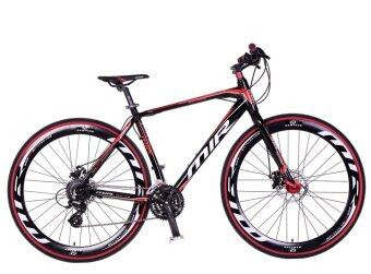 MIR จักรยานไฮบริด 700C / ตัวถัง อลูมิเนียม ไซส์ 49 / เกียร์ SHIMANO 24 สปีด / รุ่น OMICRON (สีแดง/ดำ)