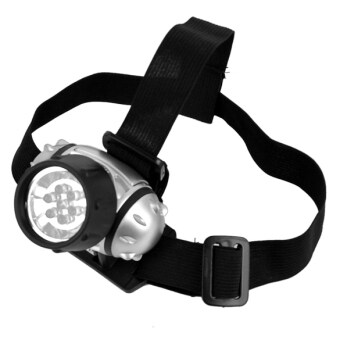 Harga Jo.In 7 LED Head Lamp Head Light Torch Lamp Hiking Flashlight (Black)
