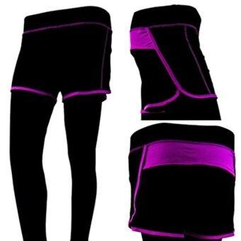 Goody Goody กางเกงออกกำลังกาย โยคะ และ Fitness สีม่วง