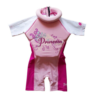 Achute ชุดว่ายน้ำเด็กแบบชูชีพในตัว สำหรับเด็กหญิง 2-10 ขวบ - pink