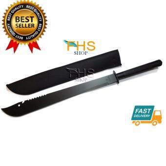FHS STANLESS STEEL BIG KNIFE (ใบโค้ง) มีดเดินป่าขนาดใหญ่ 81 cm.