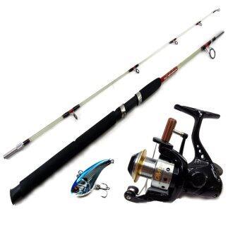 TONLEW FISHING Set Fishing ชุดคันตัน 6ฟุต+รอกหมาป่าD-max20รุ่นใหม่ ลูกปืน3 ตลับ รุ่นใหม่ แถมฟรีเหยื่อปลอม