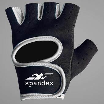 Spandex ถุงมือฟิตเนส รุ่น GL001 สีเทา L