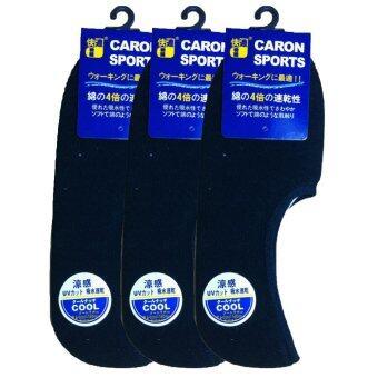 Fitness ถุงเท้าข้อสั้นสำหรับเล่นกีฬา แพ็ก3 (สีดำ)