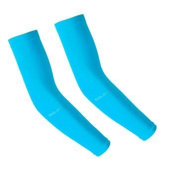 Coolstory ปลอกแขนกันแดด กันยูวีจากเกาหลี(Blue/สีฟ้า)-Free size