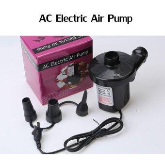 Electric Pump Dual purpose Car Electric Pump เครื่องสูบลมไฟฟ้า ที่สูบลมไฟฟ้า ขนาดเล็ก พกพาง่าย พร้อมหัว 3 ขนาด (สูบลมเข้า-ออกได้)