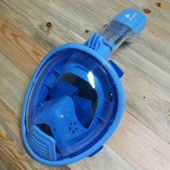 Dolphin หน้ากากดำน้ำ สำหรับเด็ก ครอบทั้งหน้า หายใจสะดวก กระจกไม่เกิดฝ้า รุ่นใหม่ DP03N (สีฟ้า)