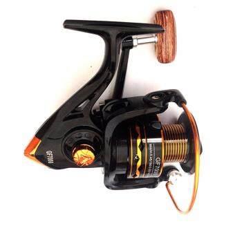 Kinglion Sport รอกสปินนิ่งสีดำเบอร์7000 รอกตกปลาลูกปืน13ตลับ อุปกรณ์ตกปลา BLACK 13 Ball Bearings Speed Spinning Reel 5.6:1 13BB GF7000 for Saltwater & Freshwater Fishing