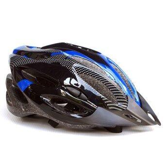 หมวกจักรยาน Macanic-V-101 (สีดำ/น้ำเงิน)