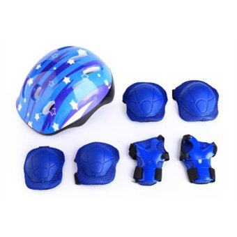 DMALL เล่นสเก็ตลูกกลิ้ง ชุดป้องกัน Kid Roller Skating Protective Guard Pad - Blue