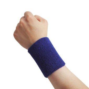 ผ้ารัดข้อมือ ซับเหงื่อ Wrist Towel ออกกำลังกาย - สีน้ำเงิน