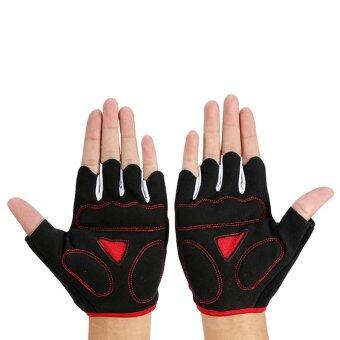 Harga Cycling Gloves Half Finger Breathable Mountain Bike Skeleton-like Guantes (M) - intl