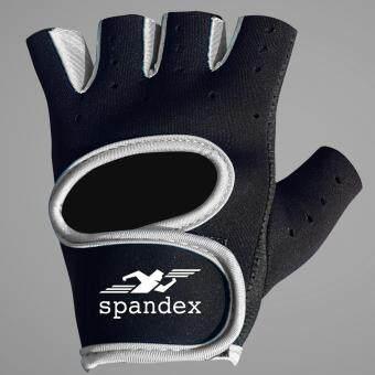 Spandex ถุงมือฟิตเนส รุ่น GL001 สีเทา M