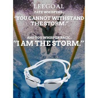 Leegoal ผู้ใหญ่ไม่พร่าเลือนแอนตี้ยูวีว่ายน้ำแว่นตาว่ายน้ำแว่นตา (เงินสีเทา)
