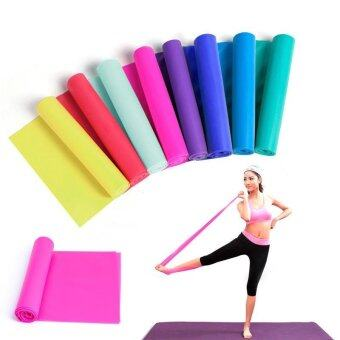 1.5m Elastic Yoga Pilates Rubber Stretch Resistance Exercise Fitness Band Belt(Blue) - intl