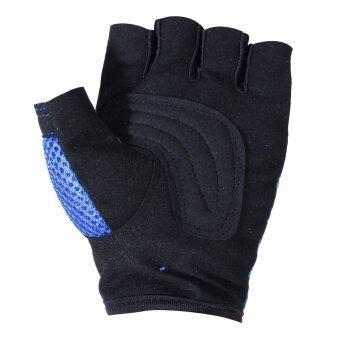 ในยิมออกกำลังกายออกกำลังกายน้ำหนักอาคารฝึกอบรมถุงมือ (สีน้ำเงิน) (XL)