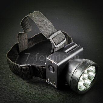7-fourteen ไฟหรี่คาดศรีษะ ตราช้าง รุ่น307 LED (สีดำ) Hunting, patrol, daily carry, cave, night fishing, easy to carry