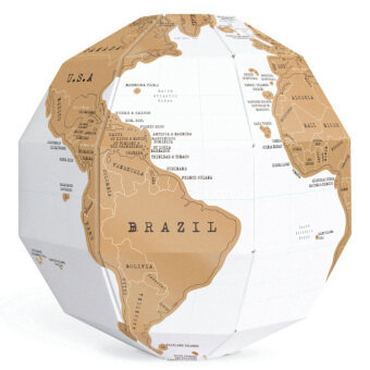 Harga DIY 3D Scratch Globe Foil World Map World Atlas