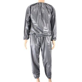 Fitness Loss Weight Sweat Suit Sauna Suit Exercise Gym Size XL Grey